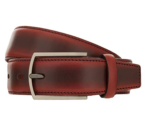 LLOYD Men's Belts Gürtel Herrengürtel Ledergürtel Vollrindleder Rot 8430, Länge:95, Farbe:Rot