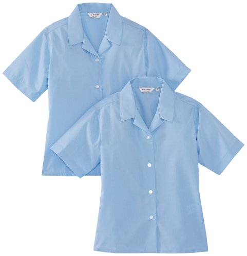 01e60a501b25c Trutex Girl s 2PK Short Sleeve Non-Iron Rever Blouse