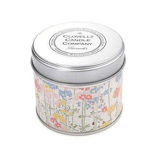 Clovelly vela Co. Natural hecho a mano lavanda perfumada vela de cera de soja (grande) vela