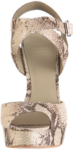 ESPRIT Collection BELKA SNAKE SANDAL R14553, Sandali donna Beige (Beige/natural)