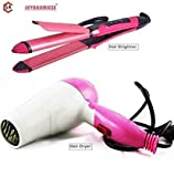 SevanAmaze Professional 2 in 1 Hair Straightener and Curler N2009 and Nova Foldable