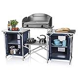 Campart Cucina da Esterni Travel KI-0732 Malaga - con paravento - Due Scomparti