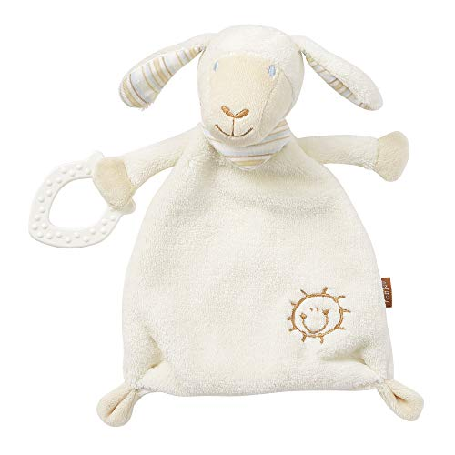 Fehn 154436 Schmusetuch Schaf - Schnuffeltuch mit Softbeißer - Zum Kuscheln für Babys und Kleinkinder ab 0+ Monaten - Maße: 25 cm