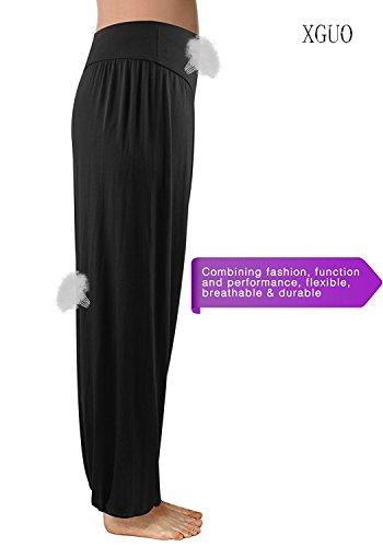 Stong Damen Yoga Tanzhose Aus Super Weichem Modal Mit Spandex Pumphose Yogahose (M, Schwarz)