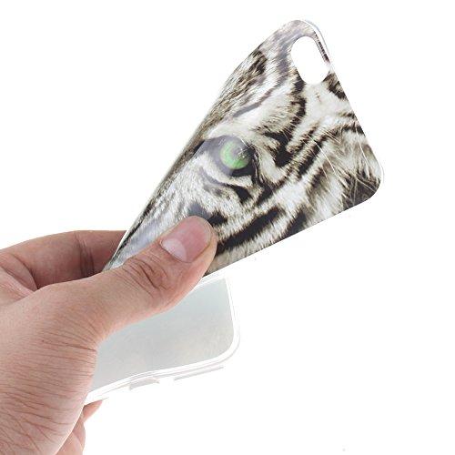 Pour Apple iPhone 6 Plus 5.5 pouce Cas, MCHSHOP Ultra-mince TPU Silicone Cover souple Phone Housse Coque de protection pour iPhone 6 Plus 5.5 pouce - 1 gratuit Touch Pen (Blanc tête de tigre) Blanc tête de tigre