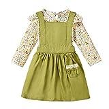 Sayla Babykleidung Winter Outfit Neugeborene Mädchen Kinder Floral Tops + Hosenträger Rock Outfits Set Kleidung