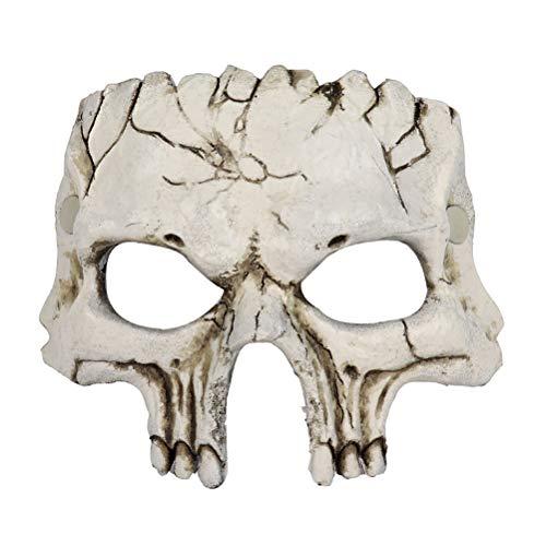 Amosfun Halloween Maske Horror Schädelform Maske Halloween Maskerade Cosplay Party Dekoration (Beige) (Halloween-kostüme Für 2019 Einzigartige)
