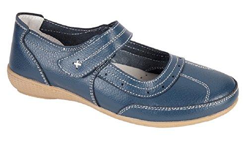 Shoe Tree Comfort , Damen Mary Jane Halbschuhe , blau - navy - Größe: 42