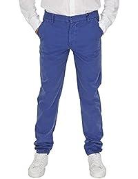 Blauer Hose Herren Blau Baumwolle Regular Fit 30