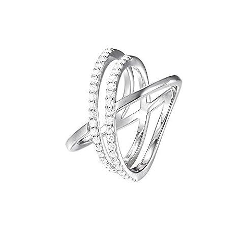 Joop! Damen-Ring JP-M REFINED 925 Silber Zirkonia weiß Gr. 57 (18.1)-JPRG90799A180