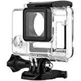 NF&E Wire Connectable Protective Side Open Housing Case Cover for Gopro Hero 3+ 4 Camera Clear