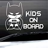 stickers muraux 3d Batman sticker mural autocollant BATMAN bébé à bord de la voiture camion graphique autocollants vinyle autocollant amovible autocollant gratuit