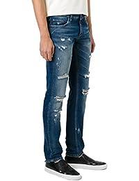 Dolce E Gabbana Homme G6XPLDG8U23S9001 Bleu Coton Jeans