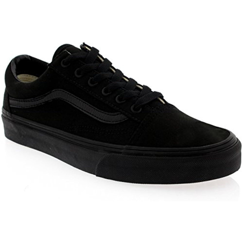 Mujer Vans Old Skool Lienzo Skate-Hi Plimsoll Zapatillas Zapato Negro -