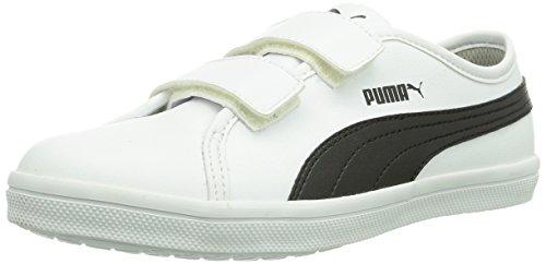 Puma Elsu SL F V Unisex-Kinder Sneakers Weiß (white-black 04)