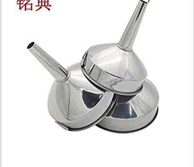 Stainless Steel Funnel Large Medium and Small Size Cone Funnel Wine Leaking Oil Drain Detachable Belt Filter Kitchen Tool : everything five pounds (or less!)