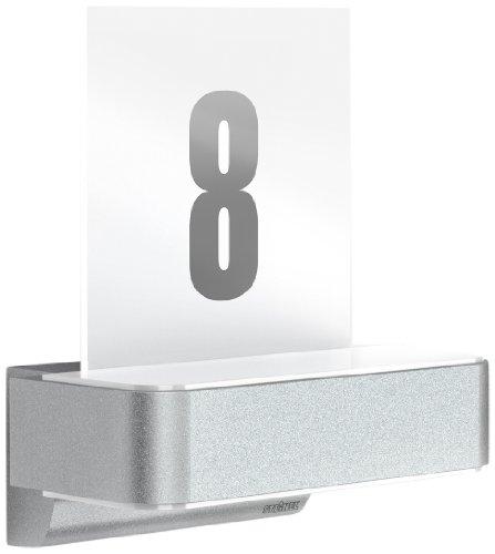 Steinel Lampada per Esterni con Sensore L 820 IHF LED Up-/Downlight con Numeri Civici, Aluminio