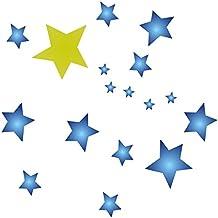 Plantilla grande reutilizable para estarcir estrellas de cielo con patrón de todo tipo de estarcido,