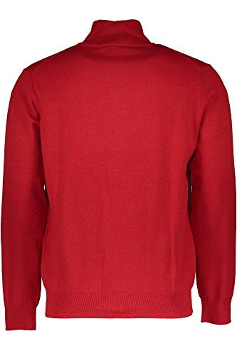 GANT Herren Strickjacke LT. WEIGHT COTTON ZIPCARDIGAN, Einfarbig ROSSO 688