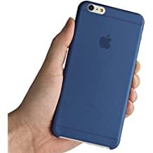 Totallee - Carcasa ultra fina para iPhone 6 Plus (versión de 5,5 pulgadas), compatible con iPhone 6 Plus iPhone 6S Plus, color azul