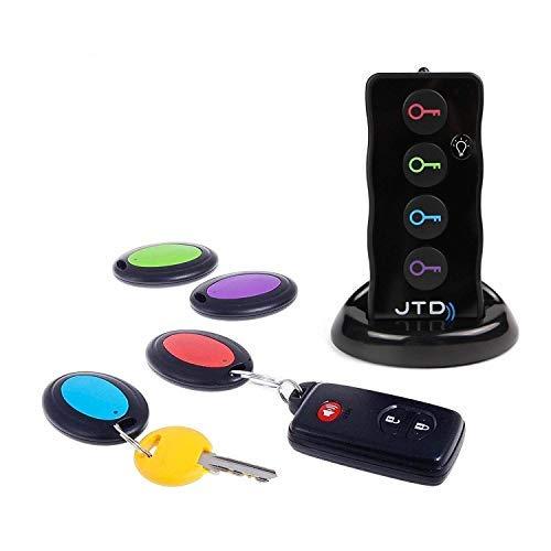 JTD Schlüsselanhänger Key Finder Wireless RF Brieftasche Locator Haustier Tracker Schlüsse Funk Sofort Finden Schlüsselfinder - 1 Sender mit 4 Empfängern