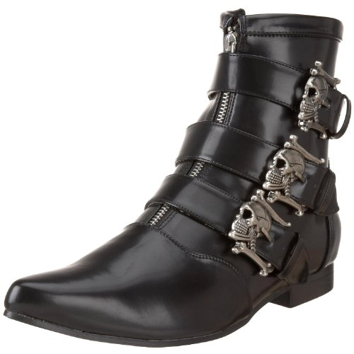 Demonia Veggie Ankle Boots Brogue-06 Schwarz