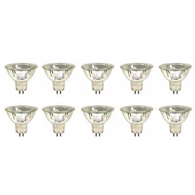 10 Stück Halogen-Kaltlichtspiegellampe MR16, GU5,3, 12V, 20Watt, 50mm