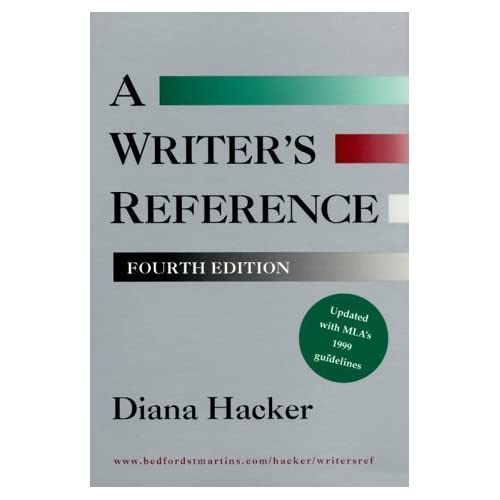 Writer's Reference (with 1999 MLA Update) by Diana Hacker (1999-10-15)