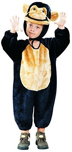 Foxxeo 10209 | Affenkostüm für Kinder schwarz, (Original Gorilla Kostüme)