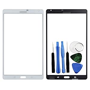 BisLinks® Front Glas Touch Screen Digitizer Für Samsung Galaxy Tab S 8.4 T700 Weiß + Tools