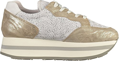 Bronx Damen Bx 1248 Bforeverx Sneaker Mehrfarbig (Silver/White)