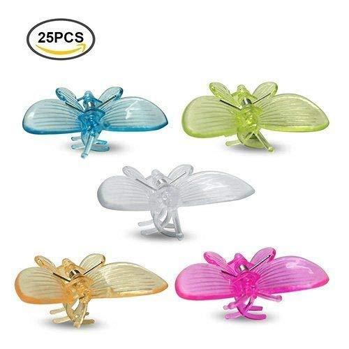 G2PLUS 25 pcs Orchidée papillon Pinces Clips pour plantes de jardin support Clips Idée cadeau pour les orchidées grower