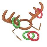 STZHIJIA Aufblasbare Weihnachtsmann Rentiergeweih Hat Ring Familie Spiele Spielzeug Weihnachten Party Festival Liefert