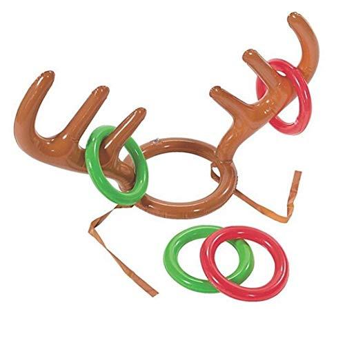 Stzhijia santa gonfiabile di corna di renne hat ring nuovi giochi per la famiglia toy vacanze di natale party festival forniture