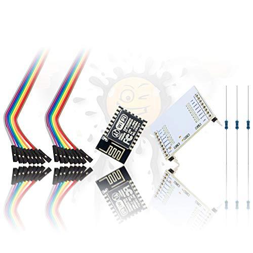 ESP8266 AI Thinker ESP-12F - Set per Principianti NodeMCU Espressif  Espruino Micropython Arduino, 23 Pezzi