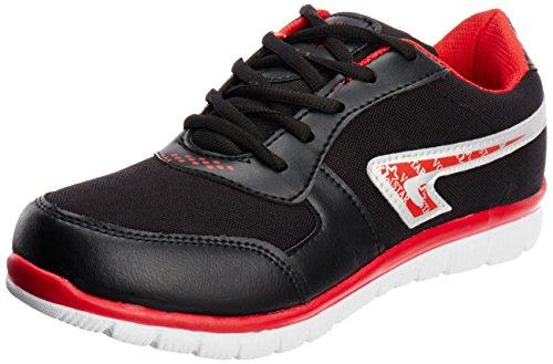 Vokstar Men's Black and Red Running Shoes - 9 UK (VSF-901)