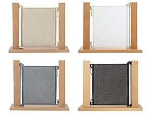 Impag Rollo Tür- und Treppenschutzgitter Höhe 85 cm oder 105 cm einrollbar ausziehbar bis 50-140 cm (Höhe 85 cm, Polar-Weiß)