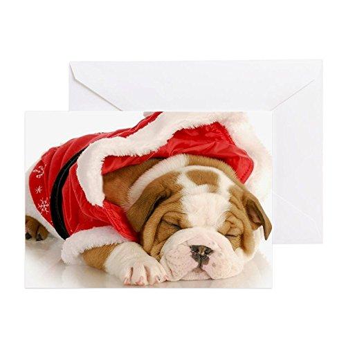 CafePress–Cute Weihnachten Puppy–Englisch bulld–Grußkarte, Note Karte, Geburtstagskarte, innen blanko, (Lustigen In Bulldogs Kostümen)