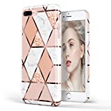 DOUJIAZ Coque pour iPhone 7 Plus, Coque iPhone 8 Plus, Coque Transparente en TPU...