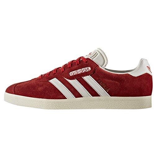 adidas Originals Gazelle Super Beige et Bleu. Chaussures de Sport Pour Hommes. Sneakers Tennis Sports Red/vintage White/gold Met.