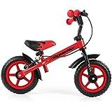 Milly Mally 4775–Bicicleta infantil de 10pulgadas ruedas con frenos y timbre, color rojo
