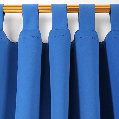 Deconovo Vorhang Verdunkelung Gardinen Blickdicht Verdunkelungsvorhang Schlaufen 245×140 cm Blau 2er set - 3