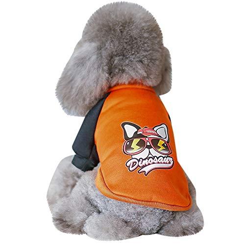 Berrose-Katze Hund Warmes Sweatshirt Haustier Liefert Kleidung Winterbekleidungs-Welpen-Kostüm Sweatshirts Weiches und Bequemes Pullover Kostüm Hundemantel Hundebekleidung Hoodie warme Puppy