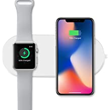 Mini AirPower Caricatore Wireless Pad di ricarica , 2 in 1, Caricatore per Apple 7.5 W/Android 10 W RICARICA RAPIDA, Caricatore Ultra Slim Portatile Caricabatterie Wireless per iPhone iWatch x/8PLUS/8, 3/2, Samsung Galaxy NOTE8/S8 Plus/S8/S7 Edge e altro dispositivo Qi