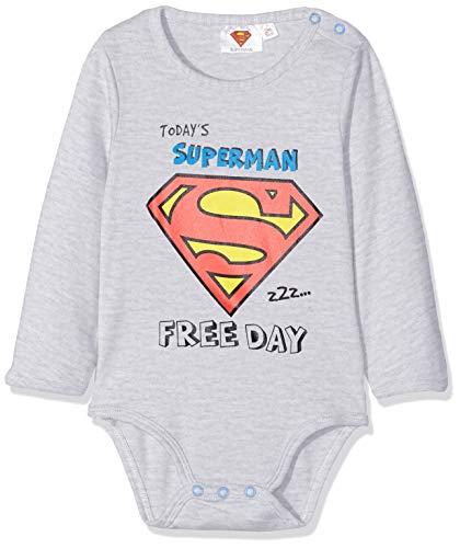 Superman Baby-Jungen 2538 Body, Grau Gris, 12-18 (Herstellergröße: 18 Monate)