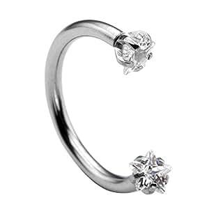 piercingj anneau piercing barbell cristal arcade boucle de nez cartilage d 39 oreille labret. Black Bedroom Furniture Sets. Home Design Ideas