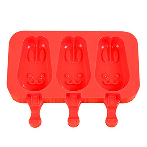 Silikon Eis Form Pop Ice Lolly Maker Frozen Form Popsicle Schokolade Tablett Three Rabbit Rot3