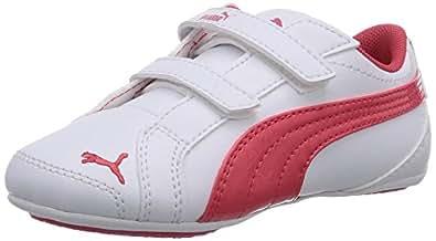 Puma Girl's Janine Dance V Kids White-Geranium Chinese Shoes - 2 UK