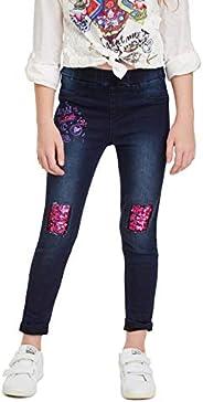 Desigual Trousers Martin Jeans, Blu (Denim Medium Wash 5053), 104 Bambina