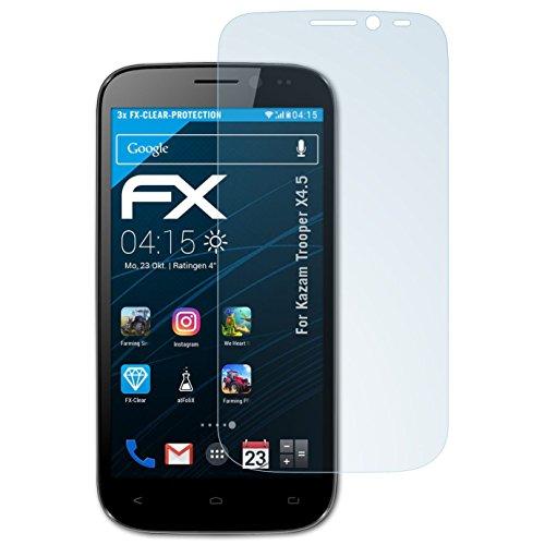 atFolix Schutzfolie kompatibel mit Kazam Trooper X4.5 Folie, ultraklare FX Bildschirmschutzfolie (3X)